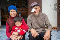 Ng Van Nuc and family. Location: Thanh Hóa, Vietnam. Photo by Erin Johnson, Room3 for CBM Australia.