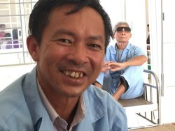 War veteran Trieu Bui and his beautiful smile