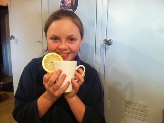 Kat Eggleston 10-kids-cook-herbal-tea-with-fresh-ginger-lemon-juice-and-honey