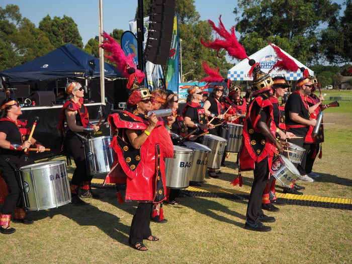 Performing at Ashfield Reserve, Bassendean.