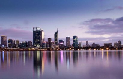 The view of Perth CBD from South Perth
