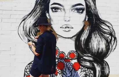 pippa mcmanus mural in morley