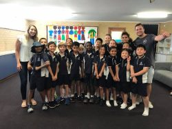 little opinions with 98five's mel & jeziel at Victoria Park Christian School