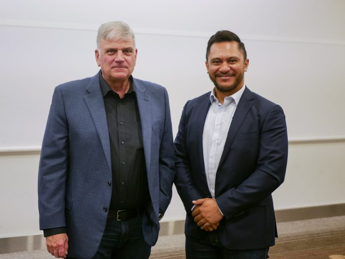 franklin graham full interview, ahead of Graham tour perth, with Tama Rima for 98five, feb 2019