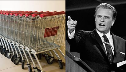 Coles supermarket founder paid for Billy Graham's crusade to be broadcast on TV