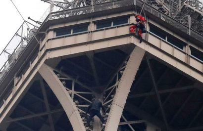 Man climbs up the side of the Eiffel Tower, what's your adventurous story?