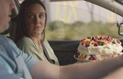 We drive better with a Pavlova in the car