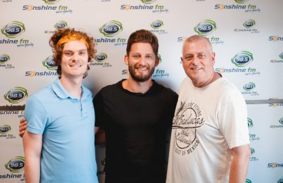 Mike and Corey with Australia Day Ambassador and Happiness Co, Julian Pace