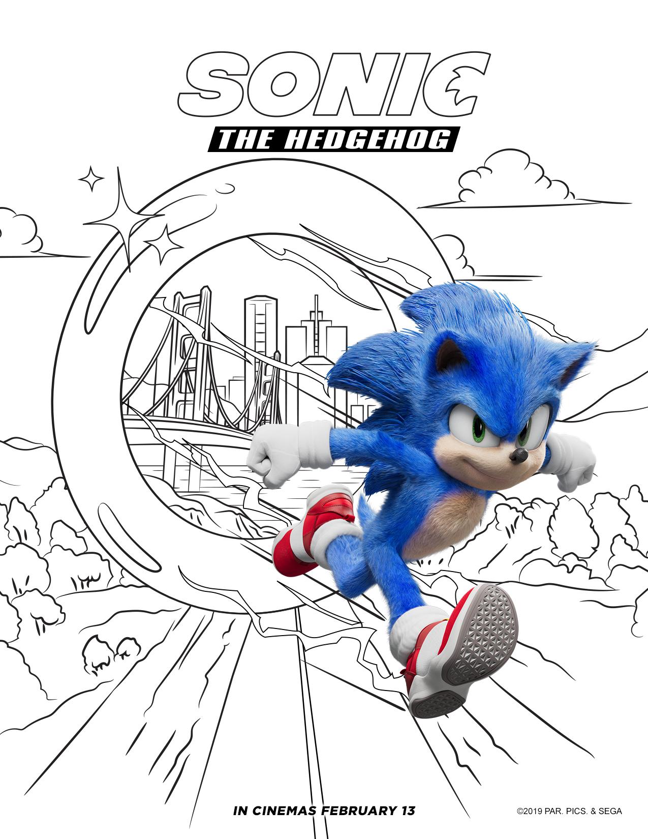 Downloadable ' Sonic the hedgehog ' kids' activities