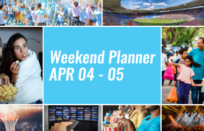 Weekend Planner April 4th - 5th