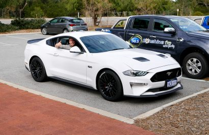 Jeziel had the chance to drive a Ford Mustang