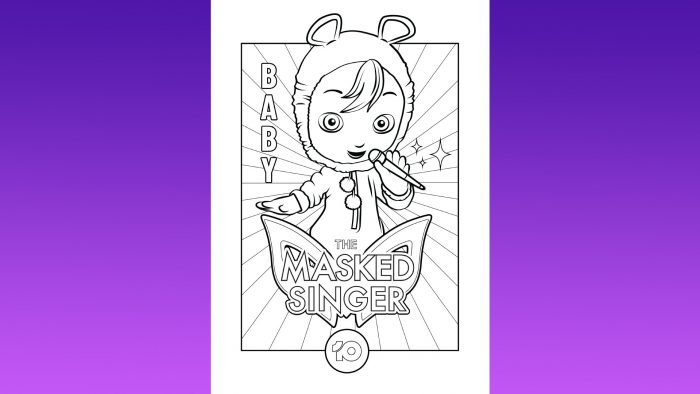The Masked Singer Colouring-In Competition